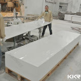panneau de mur extérieur solide acrylique en pierre artificiel blanc de glacier de 12mm (V160808)