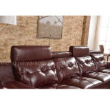 高品質の上のグレーンレザーのソファーはセットした(859#)