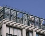 Invernadero de cristal del Sunroom del doble de aluminio del marco