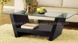 Mobilia di vetro e di legno della casa del tavolino da salotto (DMEA027)