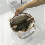 5 Farben-Tasten-Schliessen-Handtasche gewaschene Packpapier-Schulter-Beutel (A081)