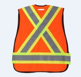 Vestíbulo reflexivo de alta visibilidade de tráfego com tecido de malha de 120 g
