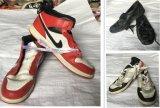 Sapatas usadas venda por atacado da segunda mão
