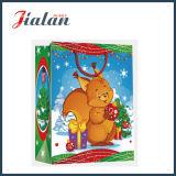 bolsa de papel impresa 4c del regalo de la mano de la Navidad de la historieta del papel revestido