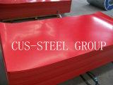 Colorir placa de aço revestida/folha lisa galvanizada Prepainted