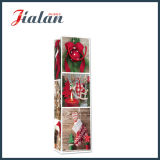 Мешок изготовленный на заказ деревянного подарка несущей покупкы бутылки рождества типа бумажный