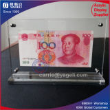 Atacado 2 Side Clear Acrylic Banknote Frame