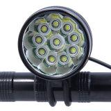 Lumière blanche fraîche maximum imperméable à l'eau de vélo du CREE T6 de Xml 10 DEL de la possibilité éloignée 18000lm