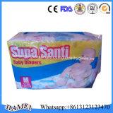 Couches-culottes remplaçables de bébé du Ghana Supa Santi avec la pleine ceinture élastique