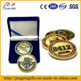 Insigne de souvenir d'émail en métal de qualité de 2016 coutumes, pièce de monnaie