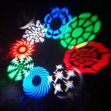 8PCS 3W RGBW LEDの移動ヘッドGoboライト