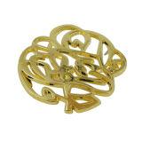 Kundenspezifischer Goldblumen-Ausschnitt/hohle Metallmarke