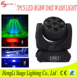 7PCS 12watt RGBW 4in1 LED Mini Moving Head Beam Light für DJ Party