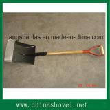 Bêche carrée de pelle à pelle avec le traitement en bois