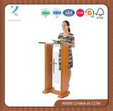 Pannello frontale normale trasversale facoltativo del podio di legno & acrilico