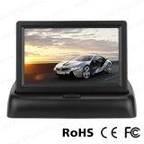 4.3 pulgadas plegable TFT LCD que invierte el monitor de visión trasera del coche