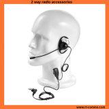 Écouteur de D-Forme d'écouteur de poids léger avec le microphone de boum d'émerillon pour la radio bi-directionnelle