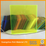 Leuchtstofffarben-glatte Oberfläche warf Acrylblatt-Plastikblatt
