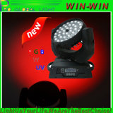 Pista móvil 36X10W del zoom LED de DMX RGBWA+UV LED