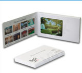 128MBビデオ広告パンフレットはとのカスタム設計し、ロゴの印刷