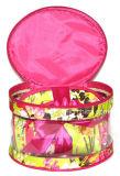 De transparante Waterdichte Roze BloemenToiletry van Af:drukken Kosmetische Zak van pvc van de Was van de Reis