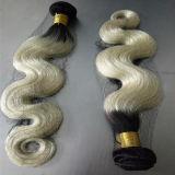 """22 de """" cabelo humano chinês livre do emaranhado da extensão #613 do cabelo Ombre"""
