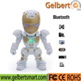 robô da forma e mini altofalante motivado com função sem fio