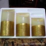 Bewegliche Ölerfilz-Kunst-Kerzen der Wachs-Kerze-LED flackernde
