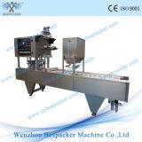 Автоматический линейный тип пластичная машина запечатывания чашки сока