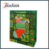 Подгоняйте рождество 3D запаша мешок подарка упаковки бумаги цвета слоновой кости бумажный