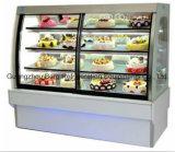 Refrigerador de vidro comercial do indicador para bolos