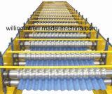 Glasig-glänzende Wand-Blatt-Rolle, die Maschinen-System für Metallgewölbte Wand bildet