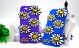 caja colorida del teléfono celular del silicón del girasol de la sonrisa 3D para el iPhone 6 6plus 7 7plus (XSF-017)