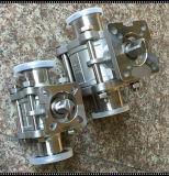Санитарная нержавеющая сталь 316 3 шариковый клапан зажатый частями