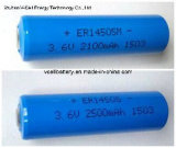 Er14505m 3.6V 2.2ah Lithium Thionyl Chloride Power Lithium Battery/ Lisocl2 Battery
