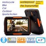 """4.3 Handheld portáteis clássicos do """" sistema de navegação de Moto GPS carro com o módulo de Glonass GPS, transmissor de FM, Wince 6.0, navegador G-4301 do GPS da antena de receptor do GPS do carro"""