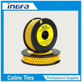 高品質電気ワイヤーのための柔らかいPVC多彩なケーブルのマーカー