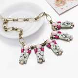 Joyería artificial del nuevo de la manera de las piedras collar multicolor bohemio de las mujeres