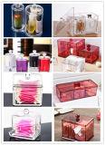 Sostenedor de la esponja de algodón del maquillaje de los cosméticos del organizador del maquillaje del sostenedor de las pistas de algodón