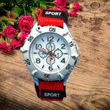 軍様式のスポーツの腕時計二重ストラップ男の子および女の子のためのナイロンベルトのスポーツの腕時計対613