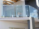 Barandilla de cristal de Frameless de la espita del acero inoxidable para el balcón