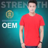 Le T-shirt pur de coton d'OEM pour les hommes et les femmes vendent la Chine en gros