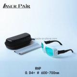 Gli occhiali di protezione del laser proteggono la lunghezza d'onda: 600-700nm per di laser a semiconduttore, tagliente laser, saldatura, sistemi medici del laser, rimozione del tatuaggio del laser, rimozione dei capelli del laser