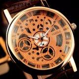 El reloj esquelético de las mujeres del reloj Z321 ahuecó hacia fuera a señora Wristwatch del oro de Rose del puntero