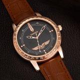 Роскошный Wristwatch дела H387 выдалбливает вне вахту кварца людей указателя для сбывания