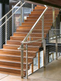 Preiswertes Preis-Plattform-Geländer-Balkon-Edelstahl-Kabel-Geländer