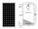 Modulo solare solare di applicazione 100W con il prezzo basso