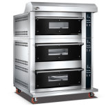 3 Plattformen 6 Tellersegmente spalteten Form-Glastür fortgeschrittenen elektrischen Spray-Ofen mit Digital-Controller für Geschäft auf (WFC-306DHAFE)