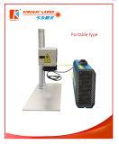 20W Laser die van het Metaal van de vezel de Draagbare de Graveur van de Machine/van de Laser merken