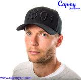 Черный неструктурированный тип шлема бейсбольной кепки